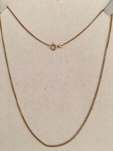 9ct Gold Thin Curb Link Necklace Mandurah Mandurah Area Preview