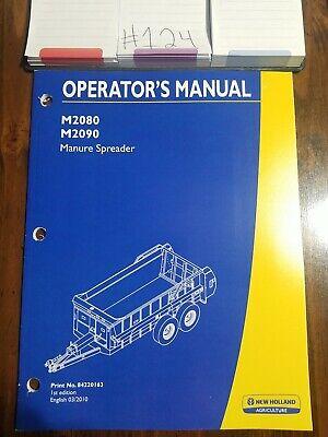 New Holland Operators Manual Manure Spreader M2080 M2090 84220163 032010 Bin