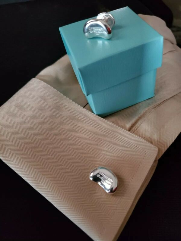 Mens sterling silver, cufflinks  delivered in a Tiffany blue, box