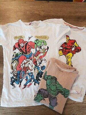 Marvel 3x T Shirt Spiderman Iron Man Captain America Gr 164 Reserved