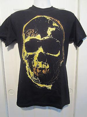 HOT TOPIC: POS Black & Gold Skull T-Shirt NWOT