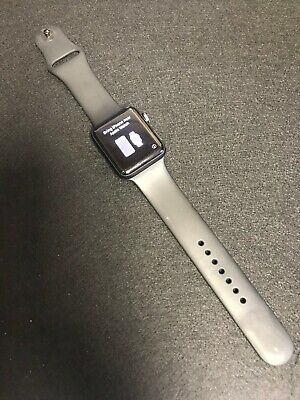 Apple Watch Series 3 42mm Space Gray Aluminium Case Grey Straps GPS Cellular