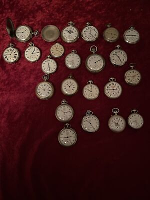 Huge Lot 22 Antique Military Pocket Watches 3 Omegas Moser Buhre Russian Empire