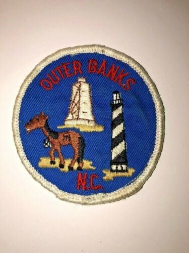 Vintage OUTER BANKS North Carolina Travel Souvenir Patch NC  FREE SHIPPING!