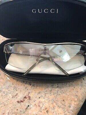 Womans Gucci Clear Aviator Sunglasses- 100% Authentic- As Is.  Comes With Case!
