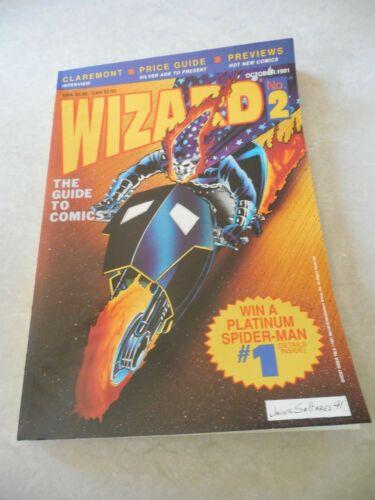 WIZARD Magazine #2, OCTOBER 1991, GHOST RIDER Cover, JAVIER SALTARES, CLAREMONT