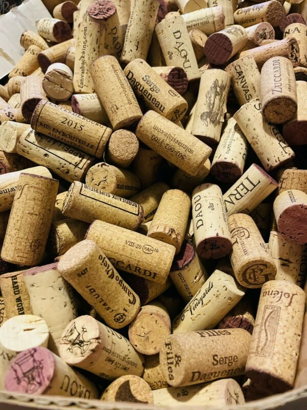 100 All Natural Wine Corks! No Synthetics! No Champagne! Ideal For Crafting!