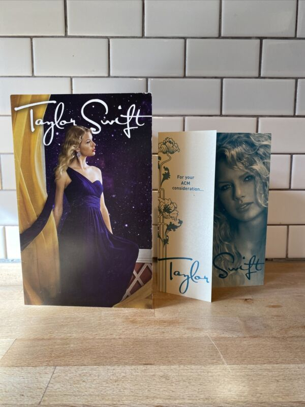 RARE 2 Taylor Swift ACM Consideration Promo Cards New Female Entertainer Of Year
