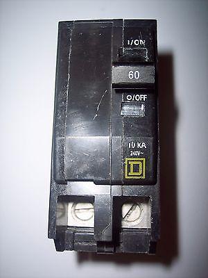 Square D 60 Amp Qob 2 Pole Electrical Circuit Breaker