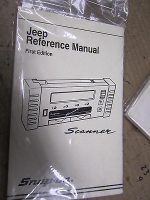 Snap On SCANNER USER MANUAL jeep reference manual 1st edition