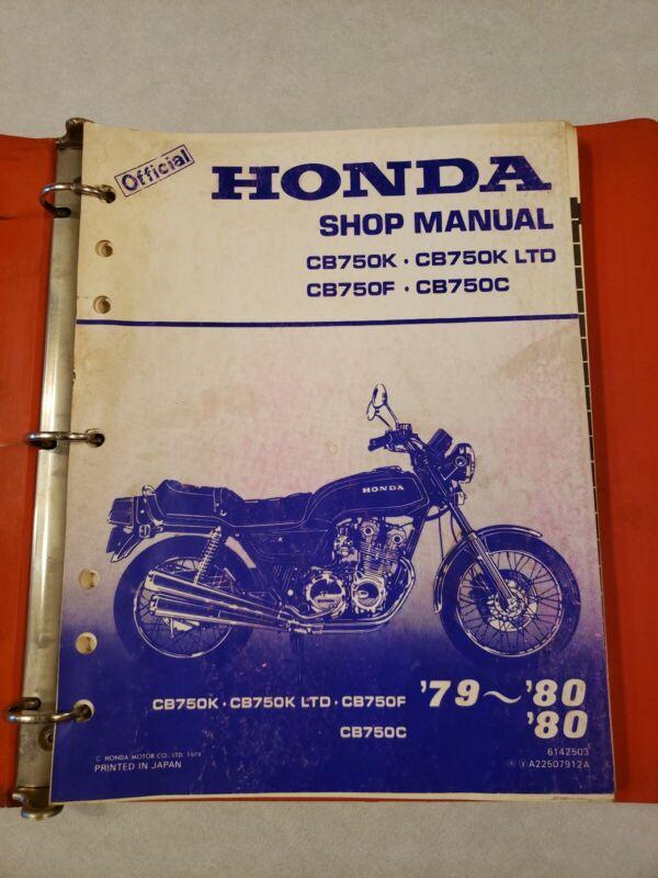 official factory oem shop manual for 1979-80 honda cb750k, f, c motorcycles  $90 00  cherokee,ia,usa