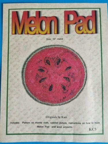 PUNCH NEEDLE PATTERN ~ Melon Pad ~ Kari
