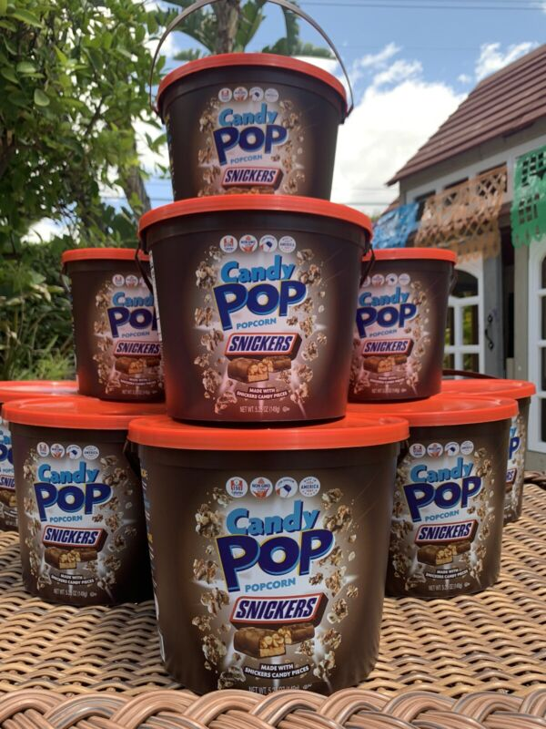 Candy Pop Popcorn Snickers 5.25 Oz Bucket Very Rare Only One On eBay