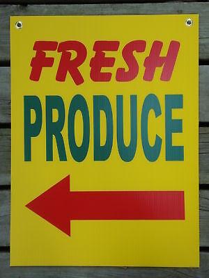 Fresh Produce Coroplast Indooroutdoor Sign 18x24 Left