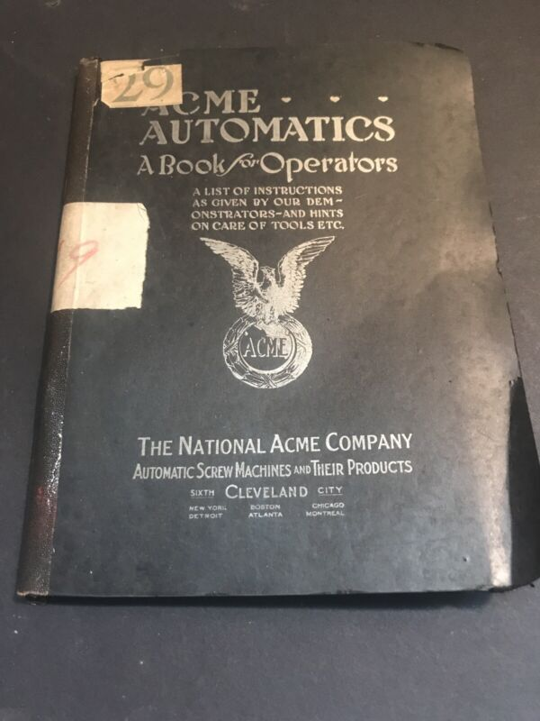 Vintage Industrial Catalog Acme Automatics  Cleveland Ohio Y713