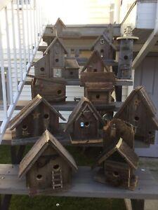 Barnboard birdhouses