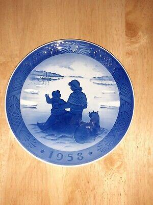 1958 Royal Copenhagen Christmas Plate