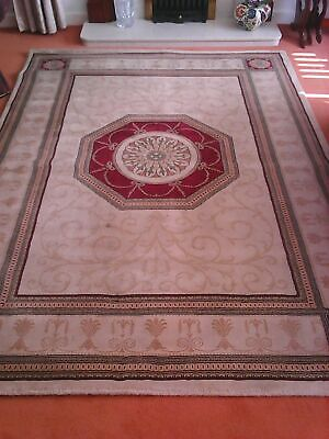 A FINE OLD  TRADITIONAL RUG ( 230 cm x 170 cm approx )  Harrogate £ 24.00