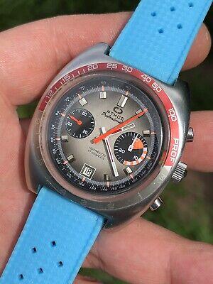 ON SALE! Vintage Athos Depth Gauge Chronograph Mens Watch Val. 7734 42,3mm Steel