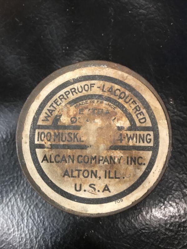 Vintage AL Musket Caps 4 - Wing Tin Alcan Company Inc. Alton, ILL Made In France