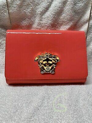 Versace Bag  Hot Pink Patent Leather Crossbody Handbag Shoulder Bag