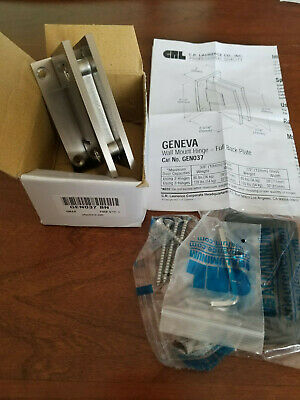 CRL CR Laurence GEN037BN Brush Nickel Wall Mount Geneva Glass Shower Door Hinge
