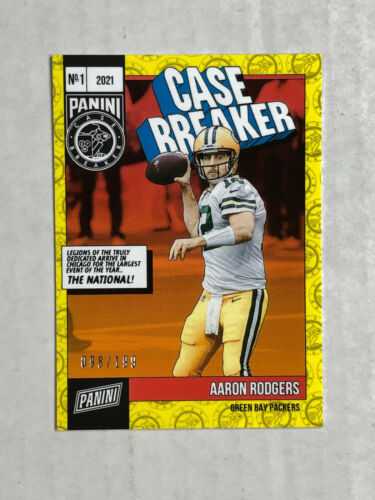 AARON RODGERS 2021 Panini The National CASE BREAKER PACK SSP 098/199! PACKERS!