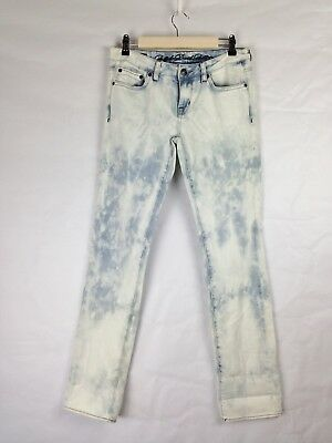 Buffalo Daniel Bitton Gitane Acid Was Low Rise Straight Leg Womens Jeans Size 29