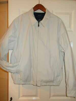 "Nautica Beige Stone Cream Jacket 48""  Large Sailing Harrington Casual Bomber VGC"