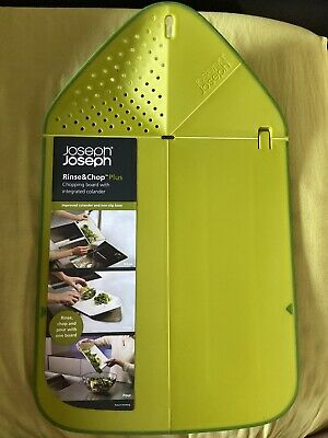 Joseph Joseph New Rinse & Chop Chopping Board Green RRP £15