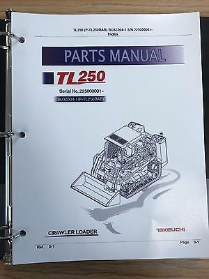 Takeuchi Tl250 Crawler Loader Parts Manual Sn 225000001 And Up