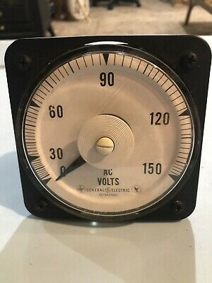 General Electric Ac Volts Meter Ab-40 0-150 Vac Nos New Old Stock Vintage