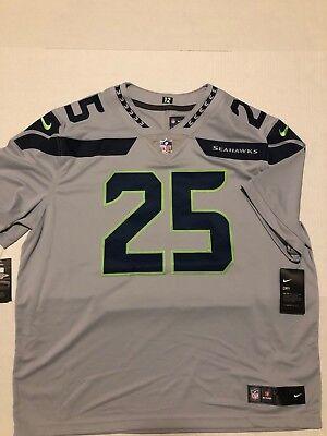 cfc15f8b6 New Seattle Seahawks Nike Richard Sherman Stitched Gray Men's Limited Jersey  2XL