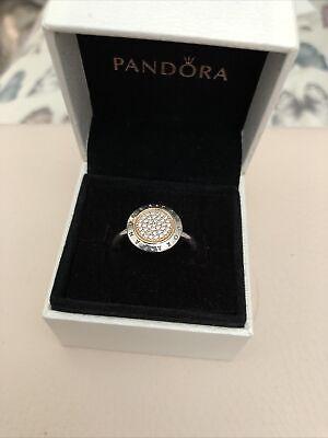 Pandora Signature two tone Ring Size 60