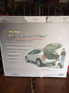 Metal pet barrier for suv