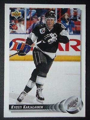 NHL 111 Kyosti Karjalainen Los Angeles Kings Upper Deck 1992/93