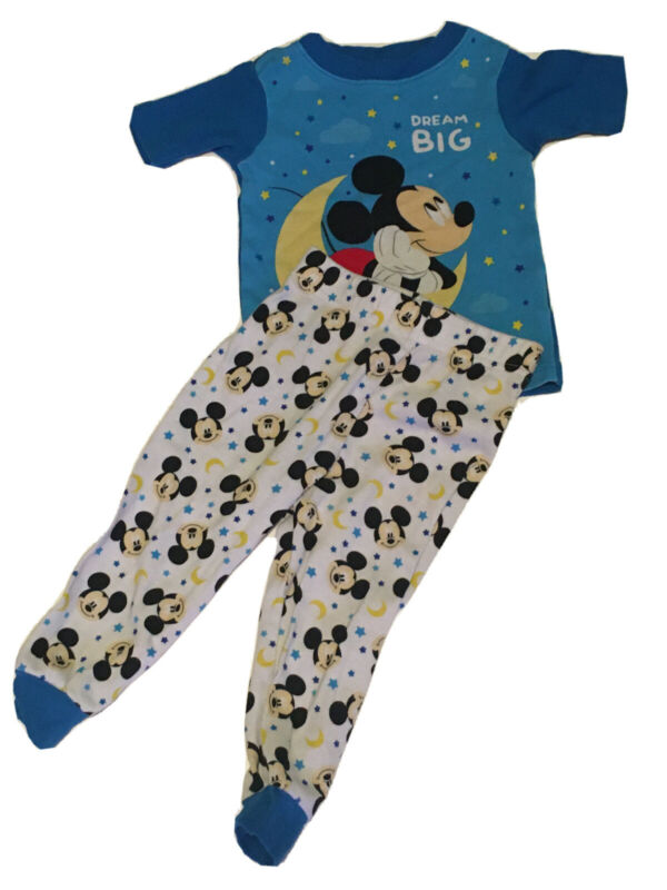 Disney Mickey Mouse Toddler boys pajamas 24 Months 2 pc Short Sleeve INFANTES