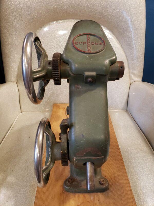 Antique EUPEDUS Cast Iron Cobblers Mechanical Shoemaker