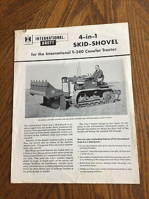 International Ih Drott Skid Shovel T340 4 In 1 Tractor Brochure