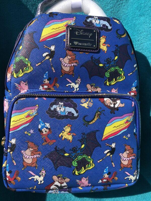 Disney Fantasia Character Loungefly Mini Backpack NWT Sorcerer Mickey Chernabog
