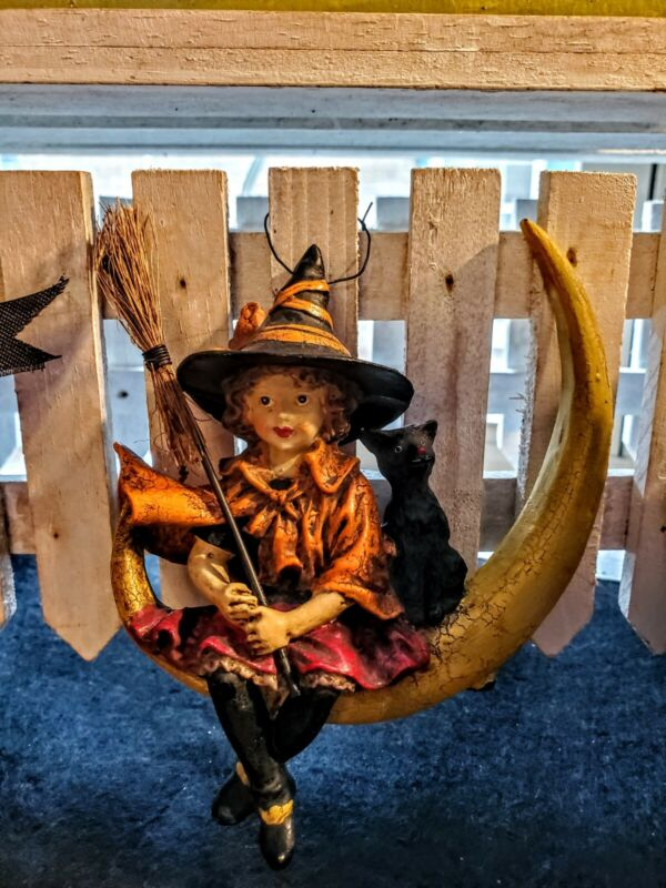 VTG☆BETHANY LOWE ☆ORNAMENT☆ WITCH ☆HALLOWEEN☆COLLECTABLE☆DECOR☆RETIRED