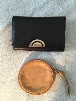 Laura Jones Black Wallet and Country Road Leather Coin Purse