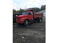 1995 International 4700 single axle dump truck , DT466 engine