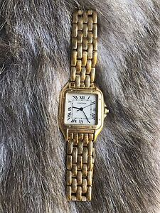 Gents 18ct Gold Panthere Cartier Watch Armadale Stonnington Area Preview
