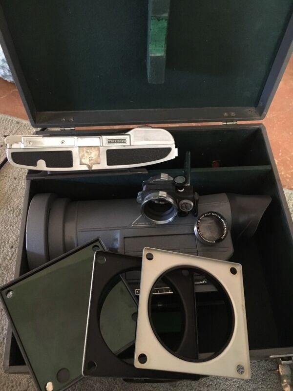 Rare~ DuMont Oscillograph Camera Type 302 ~ Polaroid 2620 ~Case 2623-A ++