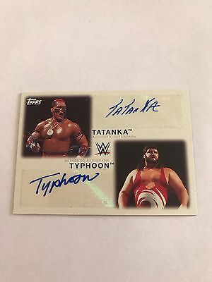 2016 Topps WWE Heritage Tatanka Typhoon Dual Auto Autograph #11/11