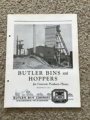 1930s Butler Bins And Hoppers For Concrete Products Plants Bulletin No. 170-a