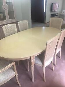 Dining Table Extendable with 6 Chairs Greenvale Hume Area Preview