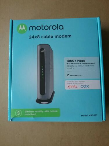 MOTOROLA 24x8 Cable Modem - Model MB7621 - DOCSIS 3.0  - $49.99