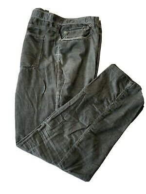 Massimo Alba Men's Corduroy Trousers Grey 38x32 Distressed Look